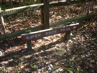 Raven Rock State Park trail sign