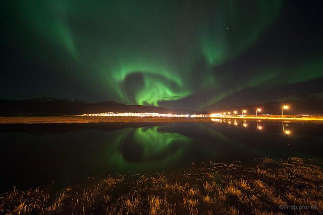 Aurora over Sauðárkrókur