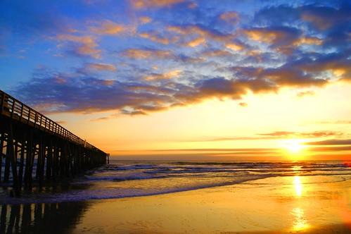 ocean morning sea sun beach nature water clouds sunrise landscape pier florida places