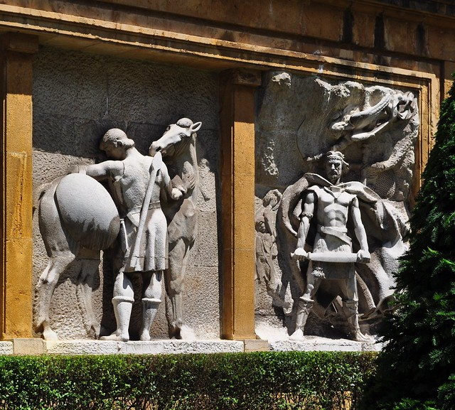 La geste des rois d'Asturies, Oviedo, principauté des Asturies, Espagne.