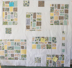 I'd say this is close to half of the assembly that has to happen on this quilt top. See the first comment for the corresponding graph.  Full story is at domesticat.net/quilts/hopscotch