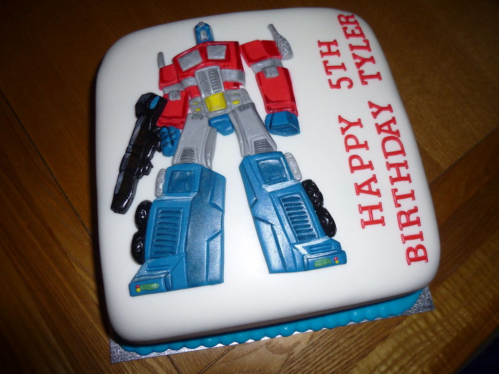 Astounding Transformers Optimus Prime Cake A Photo On Flickriver Personalised Birthday Cards Paralily Jamesorg