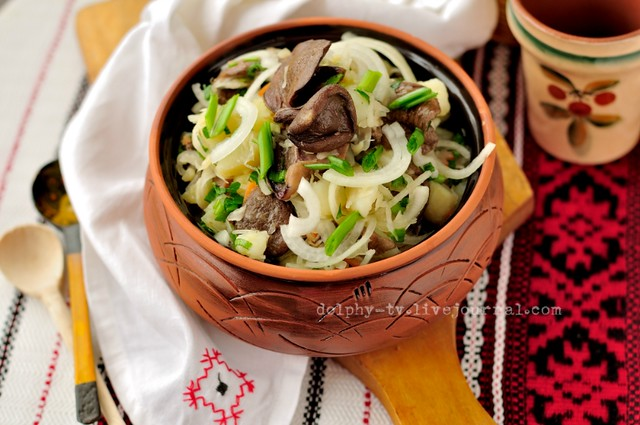 Sauerkraut, Potato and Mushroom Salad