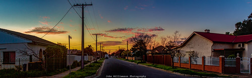 adelaide blue clouds landscape panorama southaustralia springsunset westcroydon orange australia