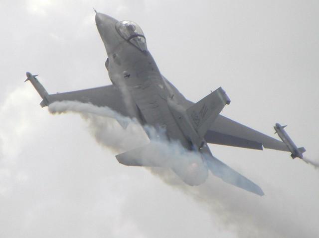 A fighter aircraft at the 2010 Farnborough Air Show