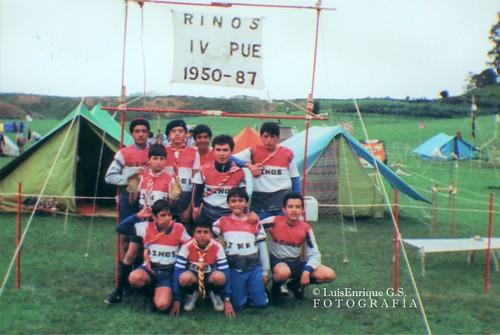 Scouts - Patrulla Rinos - Grupo IV Puebla - XIX Campamento Regional Pue-Tlax - Tehuacán - 1987