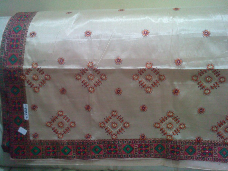Saree purchases from Handloom exhibition