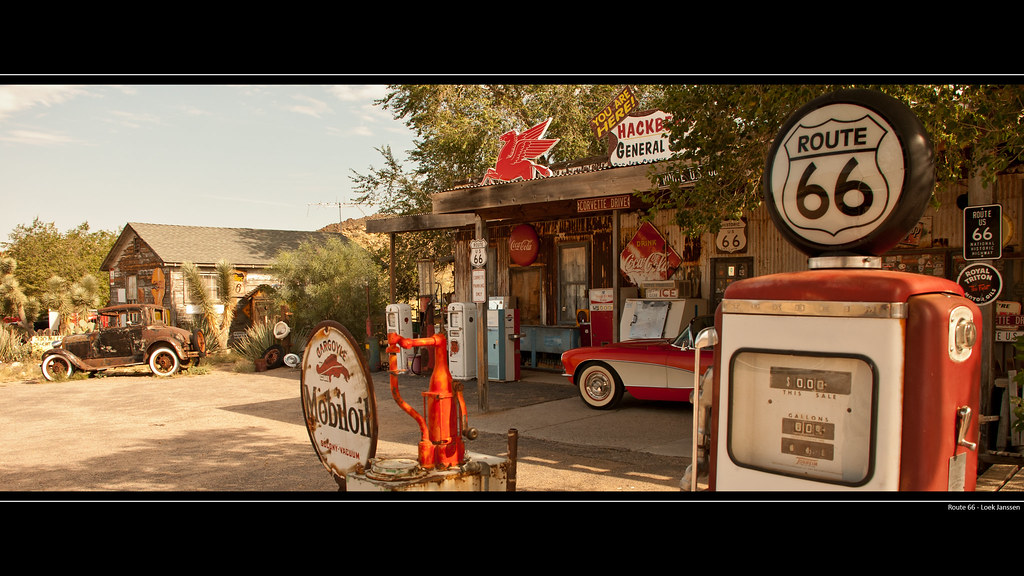 Route 66 Gas Station Wallpaper Desktop Background 2560 X