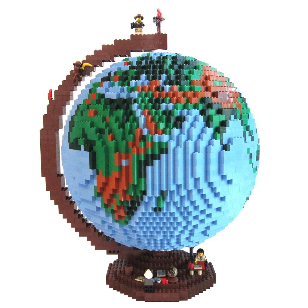 dirks LEGO globe - 01 | my globe - I hope, you enjoy it;) if… | Flickr