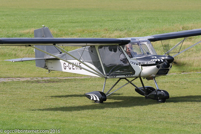 G-CEHE - 2006 build Medway Microlights SLA 100 Executive, taxiing to parking on arrival at Barton