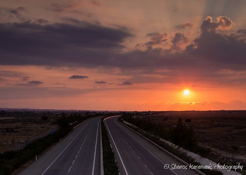 sunset sun afternoon cloud sky skylovers colours highway lines skylines canonphotography canonusers canon dslr t3i ef35350mmf3556lusm landscape landscapephotography outdoors cyprus leefilters outdoor road freeway dusk