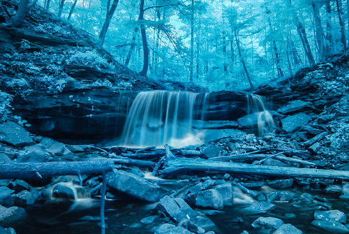 Lower Tews Falls - False Colour IR | by InfiniteBlue