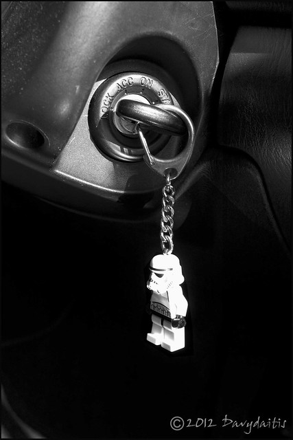 Starwars trooper keyring in our MX 5 Mk 2