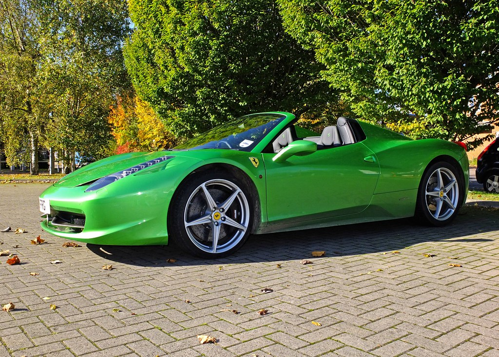 Green Ferrari 458 Spider In Hi Kers Verde Metallic Flickr