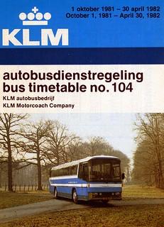 KLM-ABB dienstregeling 1981