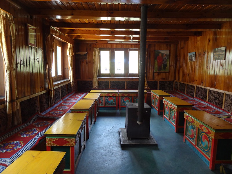 Inside the Apple Garden Lodge, Junbesi