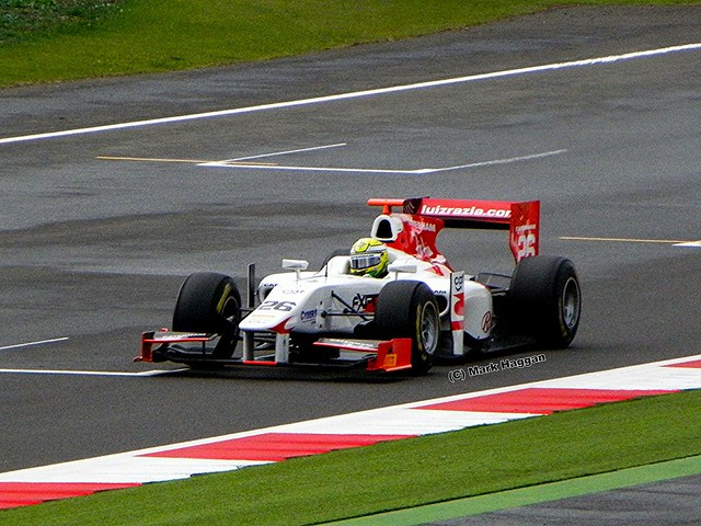 Luiz Razia in his Caterham GP2 car at the 2011 British Grand Prix at Silverstone