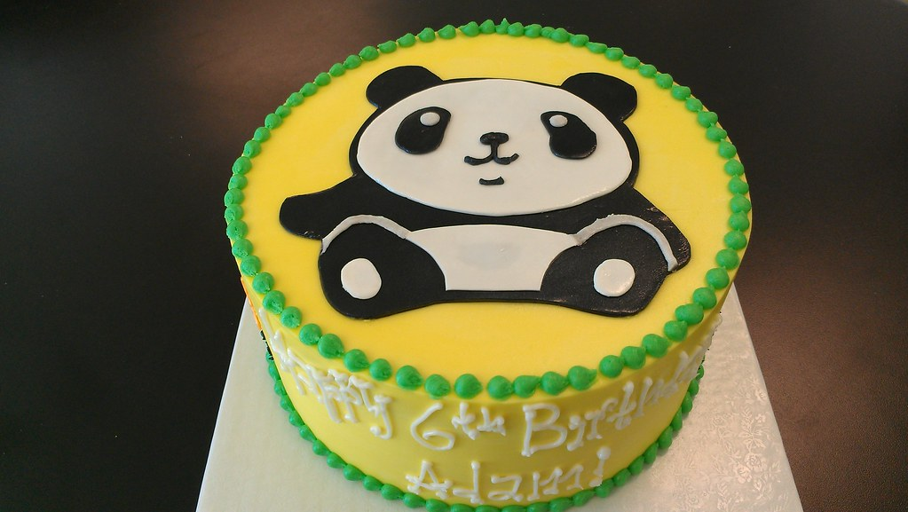 Remarkable Panda Birthday Cake Custom Cakes Require At Least 14 Days Flickr Personalised Birthday Cards Xaembasilily Jamesorg
