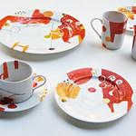 Tableware set  :: Torinoko iro no ashita (2012)