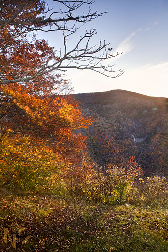 park blue autumn red sky orange mountain mountains color fall water glass leaves yellow turn sunrise way virginia waterfall mine north falls hills ridge parkway smokey carolina appalachian overlook appalachia glassmine