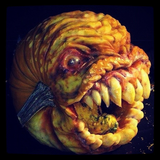 Now THAT's a scary pumpkin!