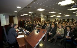 Dins les Trobades PIMEC, amb els candidats dels partits polítics a les eleccions del Parlament de Catalunya.  26 d'octubre del 2012.
