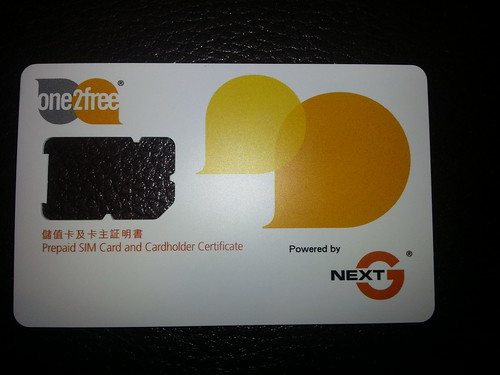 CSL One2Free Hong Kong prepaid SIM card   by neeravbhatt