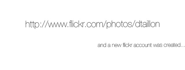 New flickr account /dtaillon
