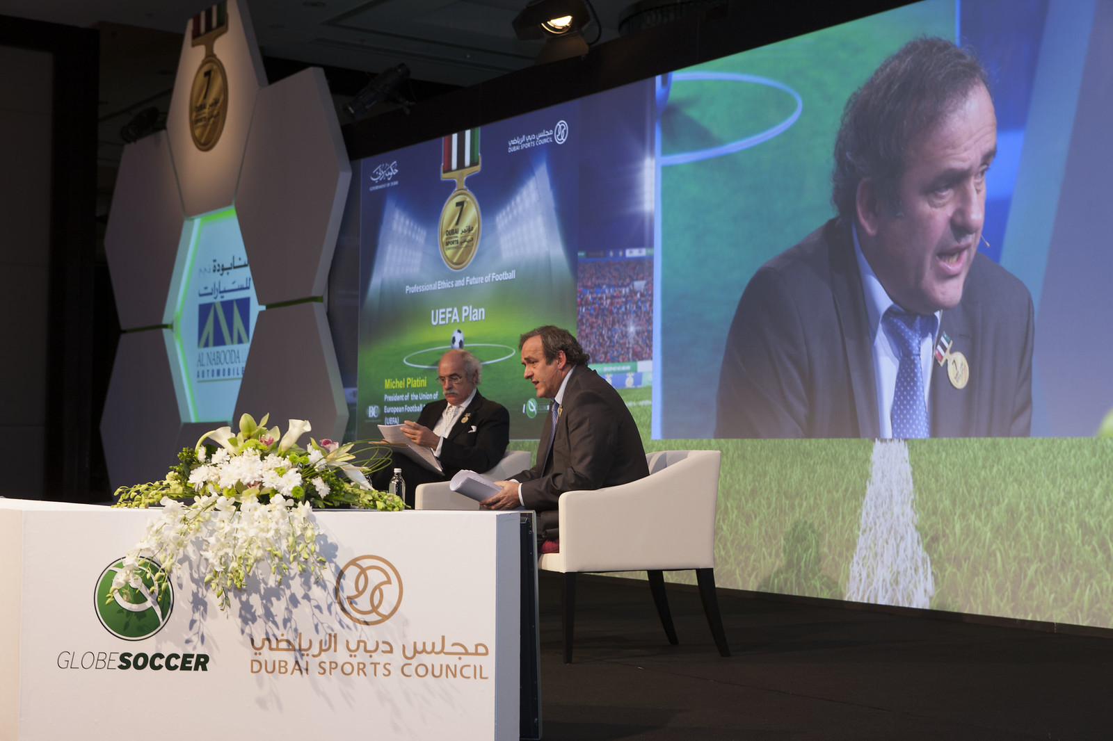 Tony Damascelli and Michel Platini