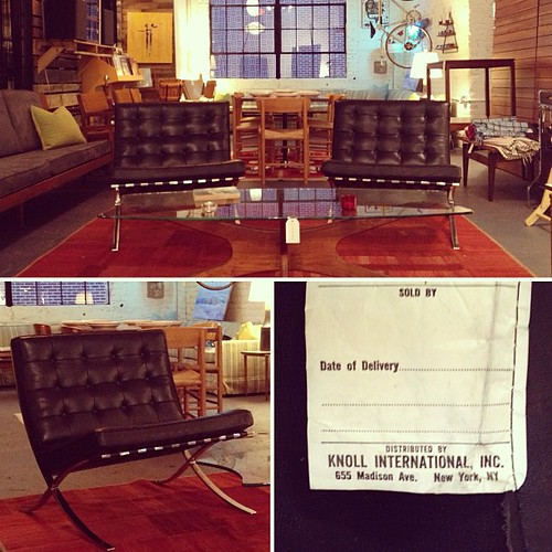 Authentic Barcelona chairs for Knoll 1985