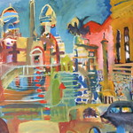 oil on canvas 100x150