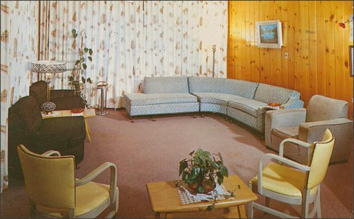 living room area of a hotel room at the Hy-Sa-Na Lodge in Ferndale, NY61 | by 1950sUnlimited