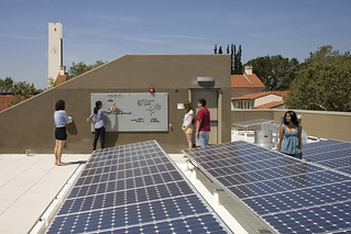 Solar panels on the roof of Sontag Hall, completed in 2011