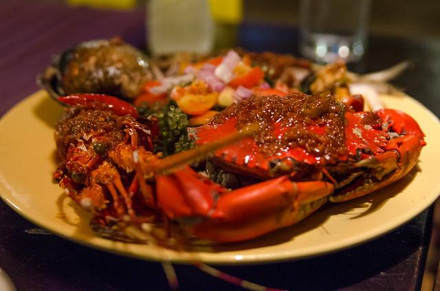 Seafood Platter at Kawayanan Grill, Coron, Philippines