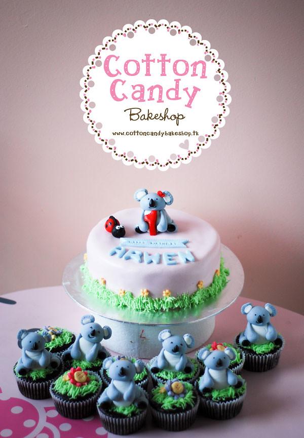 Super Koala Birthday Cake Cupcakes Yenni Ng Flickr Funny Birthday Cards Online Hetedamsfinfo