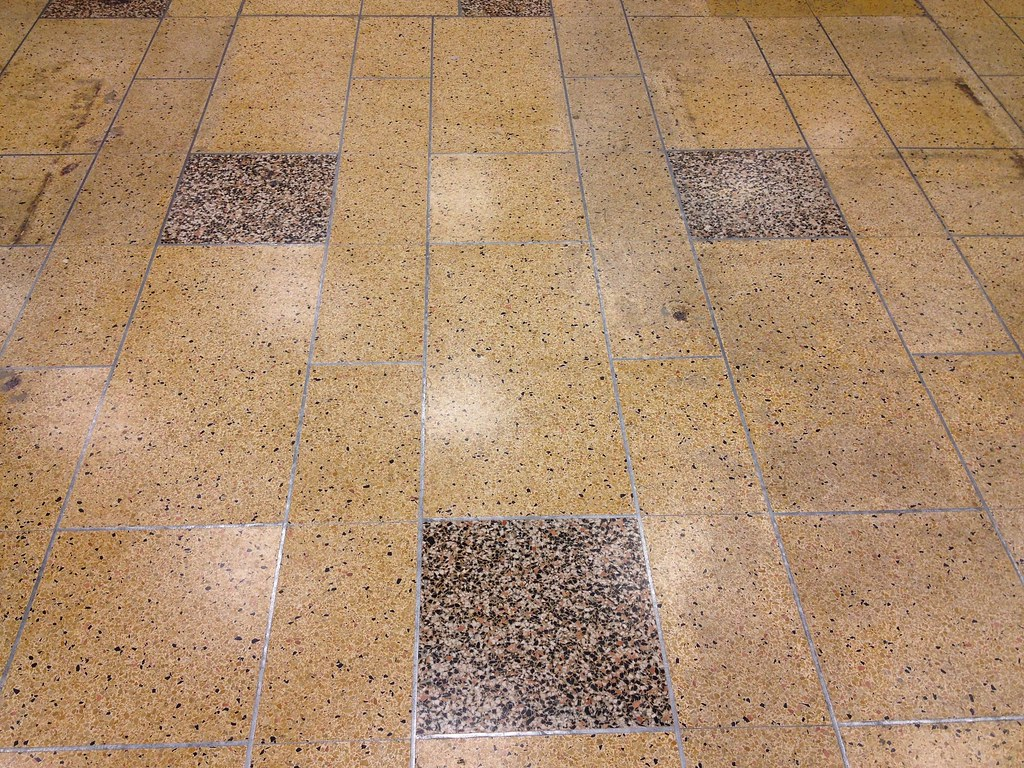 Terrazzo Floor Former Woolworth Whitish Areas Are Reflecti