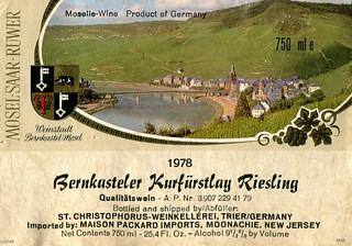 1978 - Bernkasteler Kurfürstlay (Mosel)