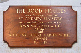 formerly in the church of St Andrew, Plaistow
