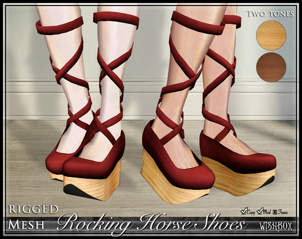 Rocking Horse Shoes (Red)