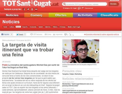 Artículo en la web - TotSantCugat.cat (15.01.2013) - catalán | by michiel.das