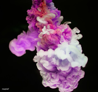Abstract pink and white color drop to the water | by Rawpixel Ltd