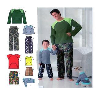 Simplicity 2318 family pajama pattern