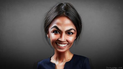 Alexandria Ocasio-Cortez - Caricature