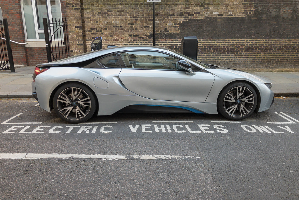 Parked up electric car