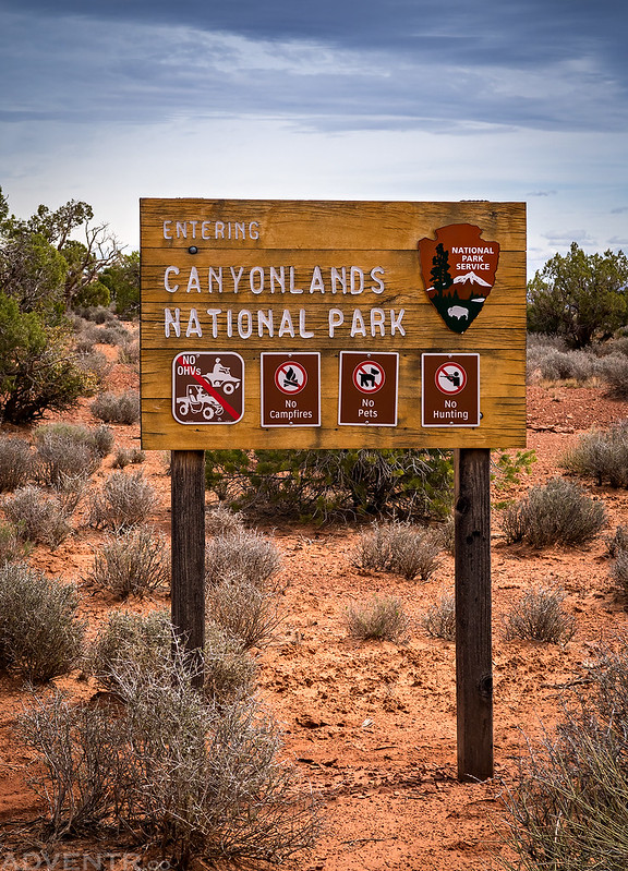 Entering Canyonlands National Park