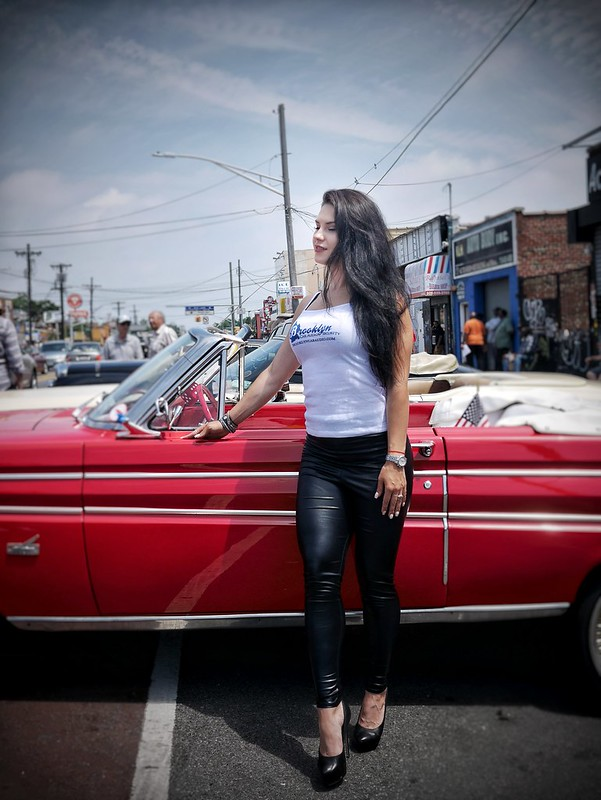 rooklyn Proline Car Show Promo Model and car racer Katrina Dyork