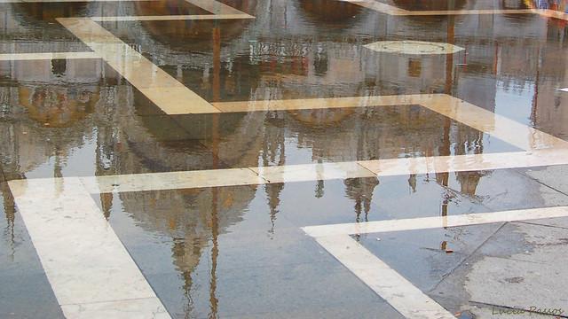 San Marco on a heavy rainy day
