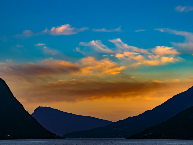 Summer Sunset on the Lustrafjord