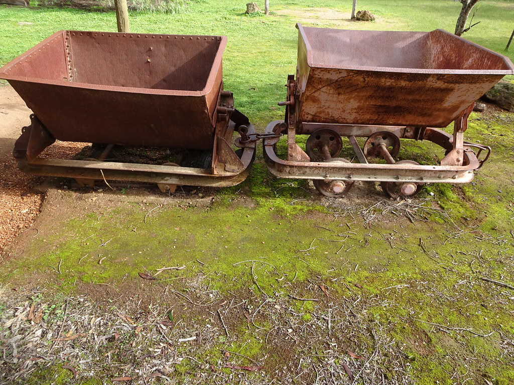 Williamstown  Old gold mining trucks from the Victoria Hil