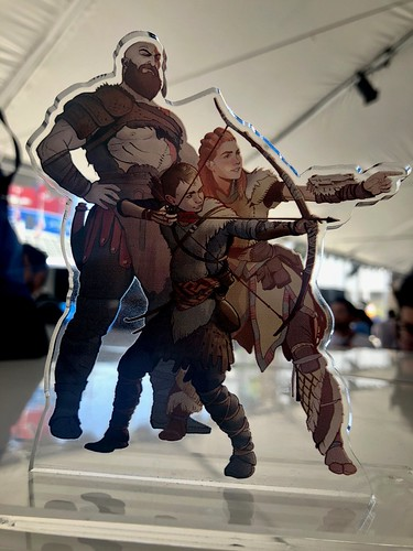 God of War Horizon Zero Dawn paperweight | by PlayStation.Blog